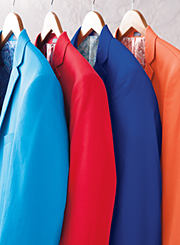 An assortment of sportcoats in various colors. Shop suits and sportcoats.
