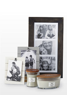 3 picture frames and 2 candles in a variety of sizes and styles. Home decor. Shop now.