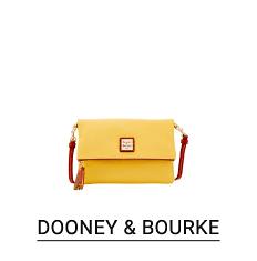 A yellow clutch handbag. Shop Dooney & Bourke.