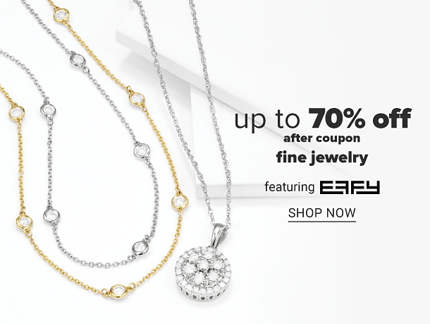 A gold necklace, a sliver necklace and a silver necklace with a diamond pendant. Up to 70% off after coupon, fine jewelry featuring Effy. Shop now.