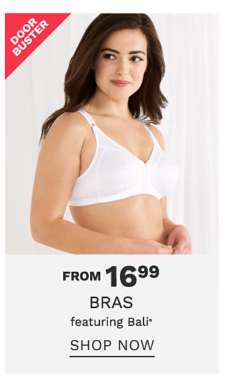 A woman wearing a white bra. From $16.99 bras featuring Bali. Shop now.