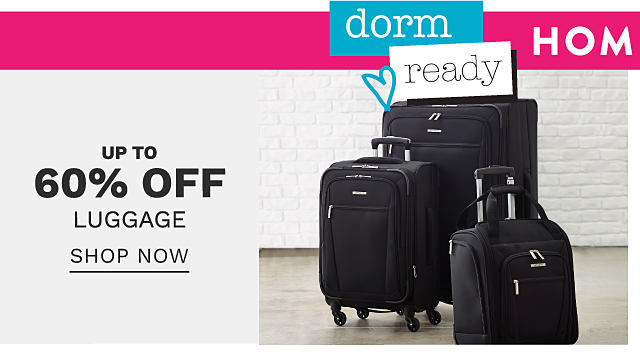 A black 3 piece wheeled lugage set. Up to 60% off luggage. Shop now.