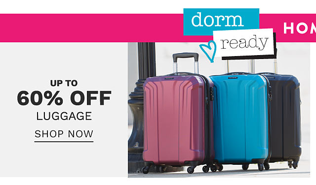 A burgundy hardside wheeled suitcase & a teal hardside wheeled suitcase. Bonus Buy. Up to 60% off luggage. Shop now.