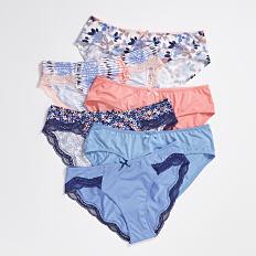 An assortment of panties in a variety of colors & prints. Shop panties.