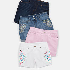 An assortment of women's shorts in a variety of colors & styles. Shop shorts.
