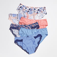 An assortment of panties in a varietry of colors & styles. Shop panties.