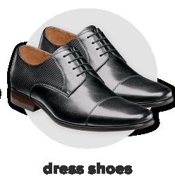 A pair of black dress shoes. Dress shoes