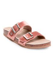 A footbed sandal with plush straps. Shop Juniors' shoes.