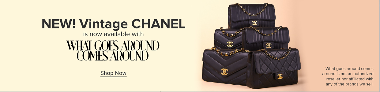 New! Vintage Chanel is now available with What Goes Around Comes Around.