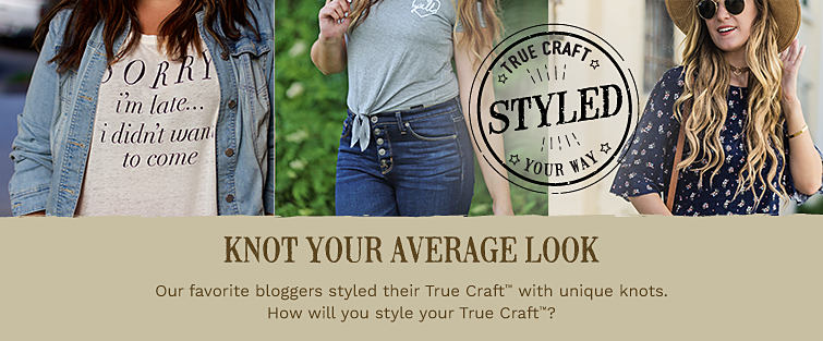 Young men and young women wearing various styles of True Craft casual apparel.