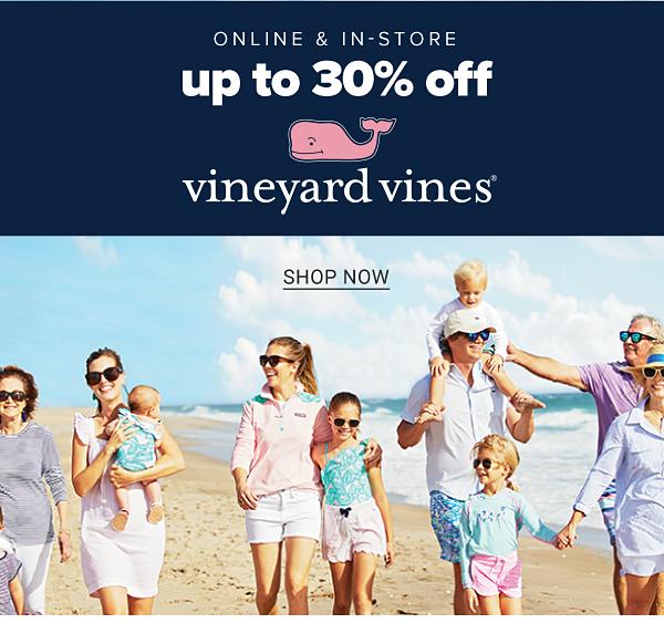 Online & instore - Up to 30% off Vineyard Vines. Shop Now.
