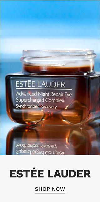 A container of eye cream. Estee Lauder. Shop now.