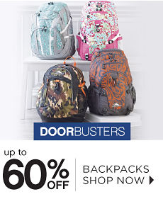 Doorbusters | Up to 60% off Backpacks - Shop Now