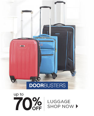 Doorbusters | Up to 70% off Luggage - Shop Now
