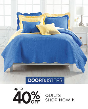 Doorbusters | Up to 40% off Quilts - Shop Now