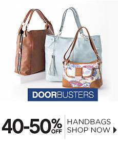 Doorbusters | 40-50% off Handbags - Shop Now
