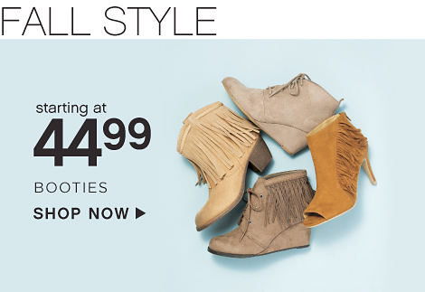 Starting at 44.99 Booties - Shop Now