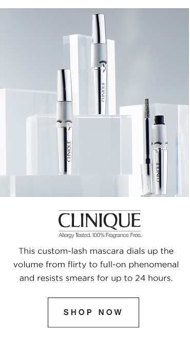 Clinique. This custom-lash mascara dials up the volume from flirty to full-on phenomenal and resists smears for up to 24 hours. Shop Now