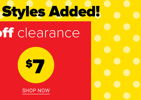 $7 up to 85% off Clearance