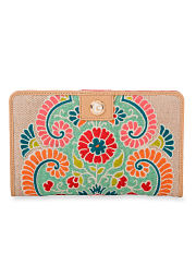 A wallet with a decorative floral print. Shop wallets.