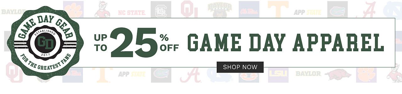 Game Day Gear for the Greatest Fans. Up to 25% off game day apparel. Shop now.