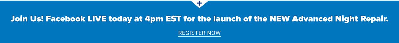 Estee Lauder facebook live event Register now