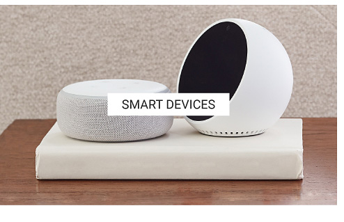 Two different styles of smart devices for the home. Shop smart devices.