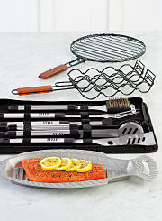 An assortment of grilling tools. Shop grilling tools.