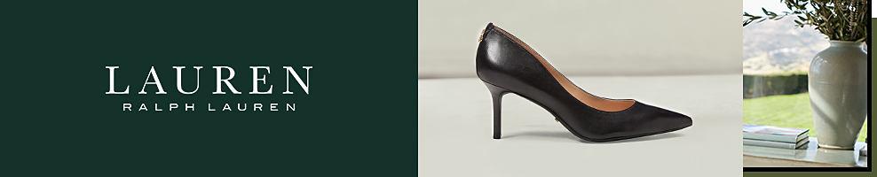 A women's black pump. Lauren Ralph Lauren.