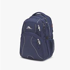 A navy back pack. Shop backpacks.