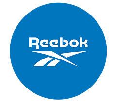 The Reebok logo in a blue circle.