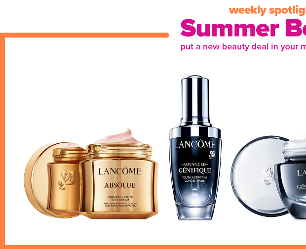 Weekly spotlight, summer beauty bash. Put a new beauty deal in your makeup bag every day this week.