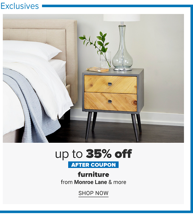 A bedside table with drawers and decor on top. Up to 35% off after coupon, furniture from Monroe Lane and more. Shop now.
