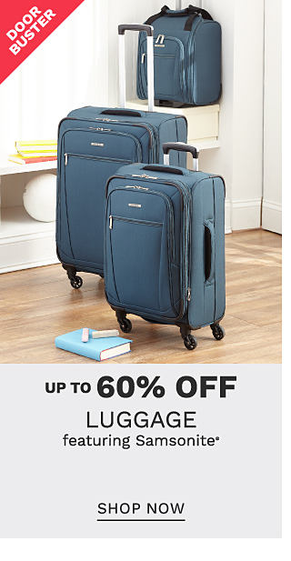A blue 3 piece luggage set. DoorBuster. Up to 60% off luggagewear featuring Samsonite. Shop now.