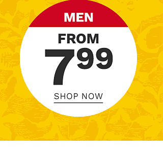 Men. From $7.99. Shop now.