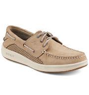 A beige men's deck shoe. Shop casual shoes.