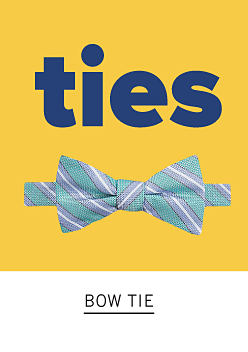 Ties. A blue striped bow tie. Shop bow ties.