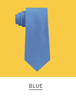 A blue tie. Shop blue