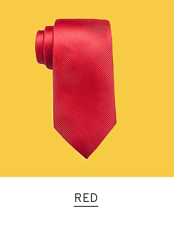 A red tie. Shop red.