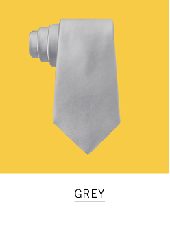 A grey tie. Shop grey.