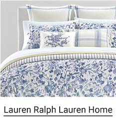 A blue and white floral bedding