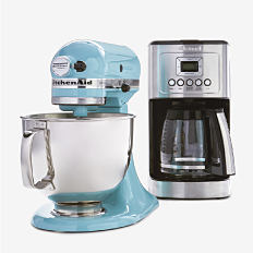 A mixer and a coffee maker. Shop small appliances.