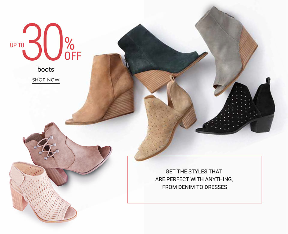 An assortment of young contemporary boots and shoes. Get the styles that are perfect with anything, from denim to dresses. Up to 30% off young contemporary boots and shoes. Shop now.