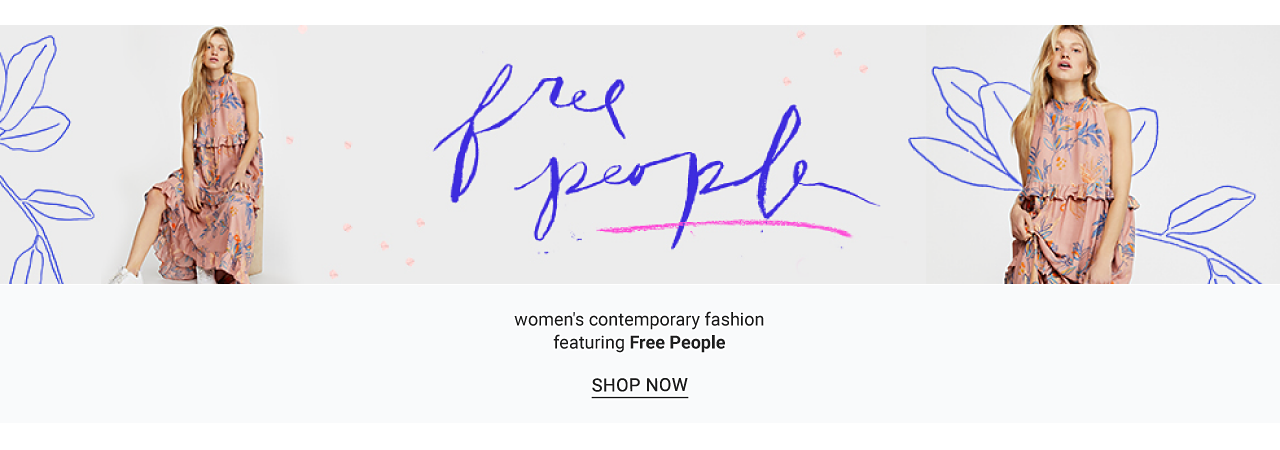 A woman wearing a sleeveless multi colored print dress. Women's contemporary fashion featuring Free People. Shop now