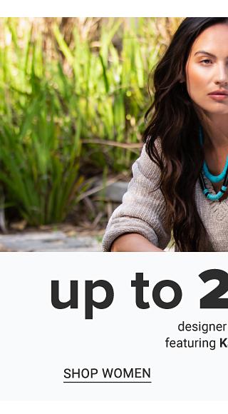 A woman wearing a gray sweater. Up to 25% off designer fashion featuring Karen Kane. Shop women.