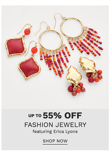An assortment of red & gold tone fashion jewelry earrings in a variety of styles. Up to 55% off fashion jewelry featuring Erica Lyons. Shop now.