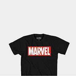 A black, white & red Marvel logo T shirt, a gray & black A C D C logo T shirt, a black, white & red Nike Just Do It T shirt & a blue, gold, black & light blue Salt Life logo T short. Express Yourself with the coolest graphic tees. Shop movies.