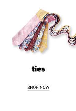 A collection of ties in a variety of colors and prints. Ties. Shop now.