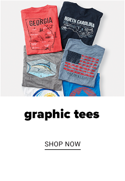 A variety of graphic tees. Graphic tees. Shop now.