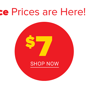 Our best clearance prices are here! $7 Shop Now.